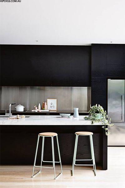 Dark kitchens you'll love via sheerluxe.com