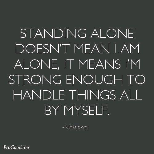 she stronge alone