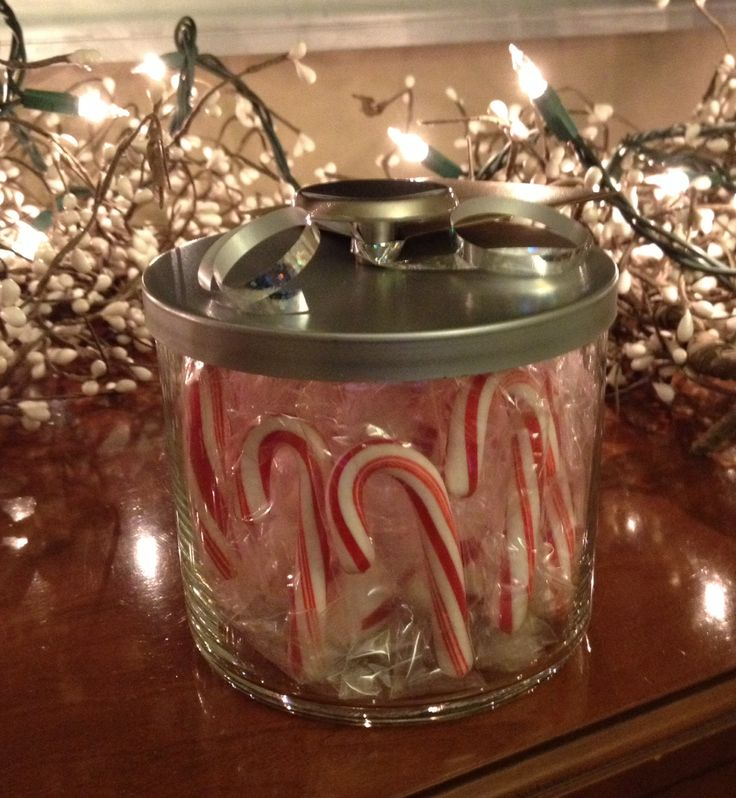 Recycle & reuse Bath & Body candle jar!