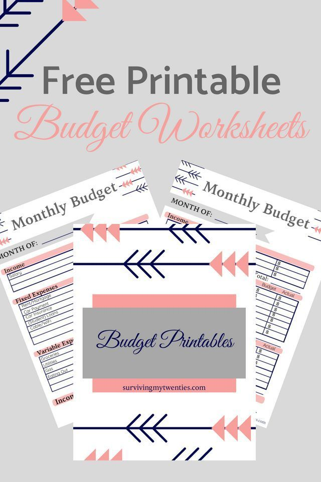 Quick And Easy To Use Printable Budget Worksheets Budget