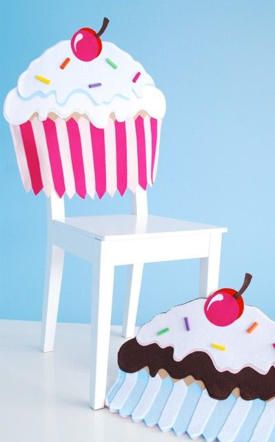 Pink Cupcake Chair Cover - DIY for the birthday person in the house!