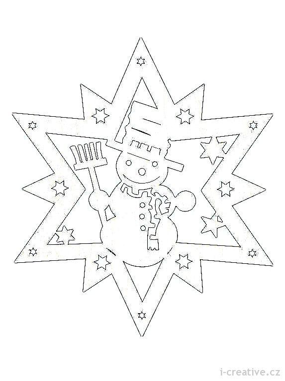 Vánoční vystřihovánky do oken | i-creative.cz - Inspirace, návody a nápady pro rodiče, učitele a pro všechny, kteří rádi tvoří.