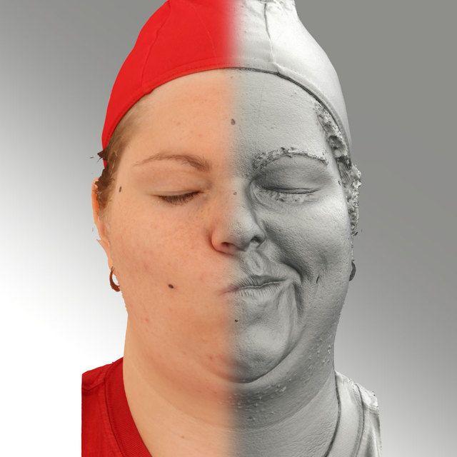 3D Head Scan Of Sneer Emotion Left   Misa