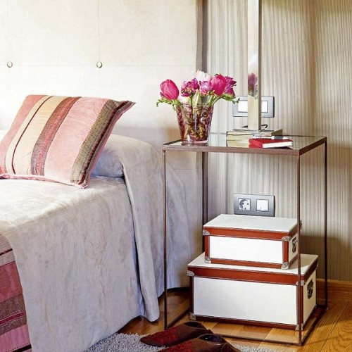 NIGHTSTAND----STORAGE  40 Cool Ideas To Use Simple Storage Boxes In Different Rooms | Shelterness