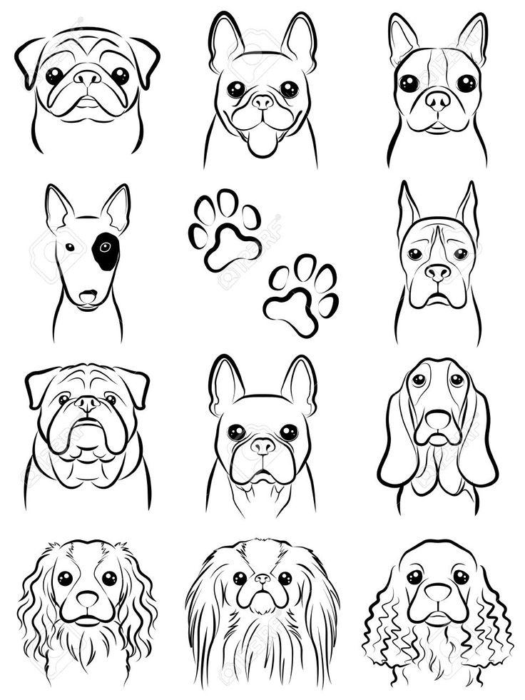 Картинка морда собаки нарисовать