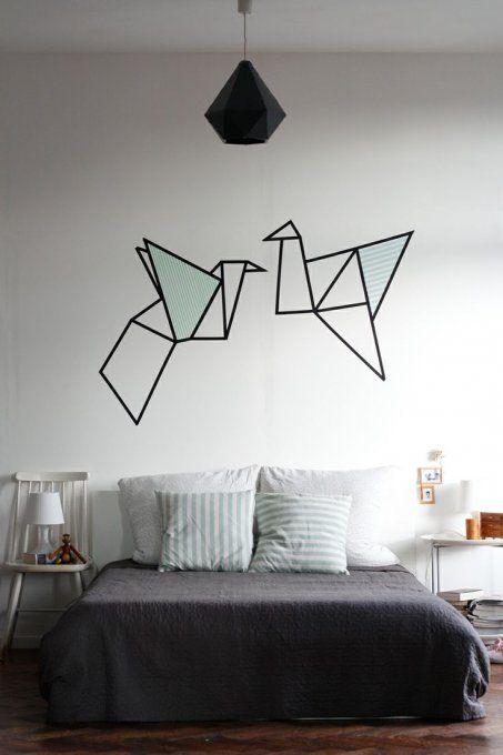 Une décoration murale en masking tape