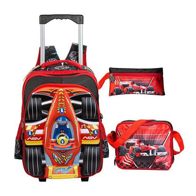 HANTAJANSS kids trolley school bag girls school backpacks wheels children orthopedic school backpack girls travel trolley bag