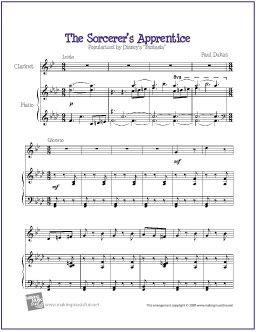 The Sorcerer's Apprentice (Dukas) | Free Sheet Music for Clarinet http://makingmusicfun.net/htm/f_printit_free_printable_sheet_music/sorcerers_apprentice_clarinet.htm