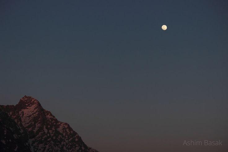 Moonlight over Dhauladhar range