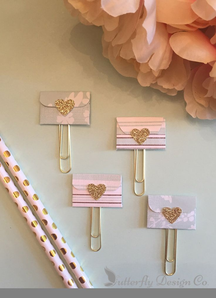 A personal favorite from my Etsy shop https://www.etsy.com/listing/454974276/mini-envelope-planner-clip