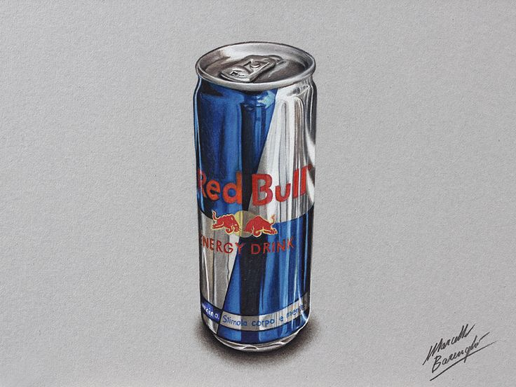 Watch on YouTube how I draw this can of Red Bull http://youtu.be/S1LJlKq6M0Q