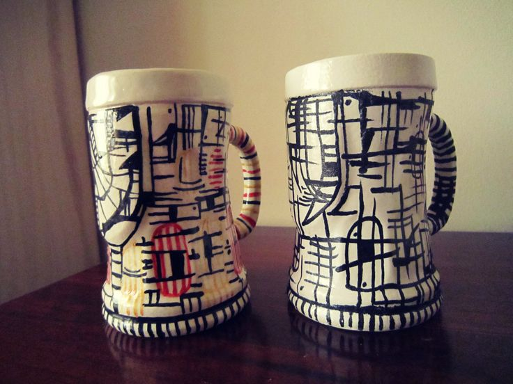 Beer Chop - Ceramic 2015 Sophia Lenzi # abstract decor