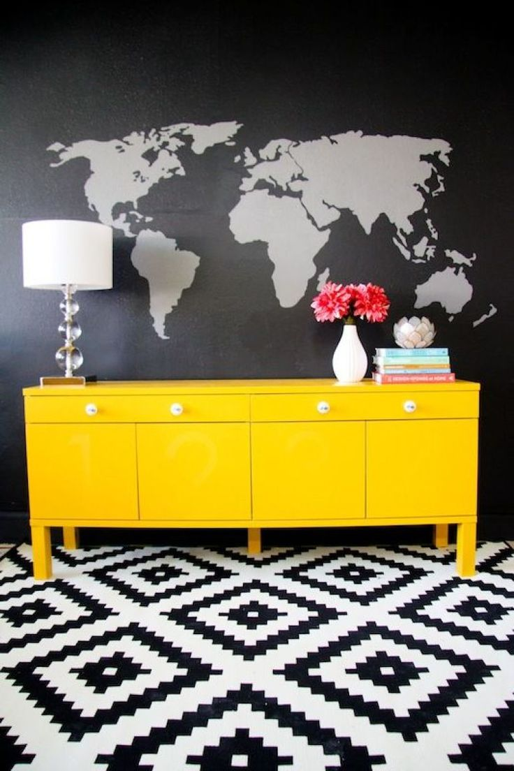 27 best burton collection images on pinterest bedroom ideas add creativity to your home decor with this diy world map painted wall mural and a great pattern on the floor amipublicfo Image collections