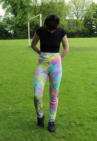 Vintage+Multi+Colour+Leggings