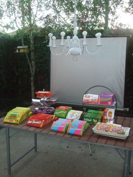 ideas for hosting an outdoor movie themed party so cute