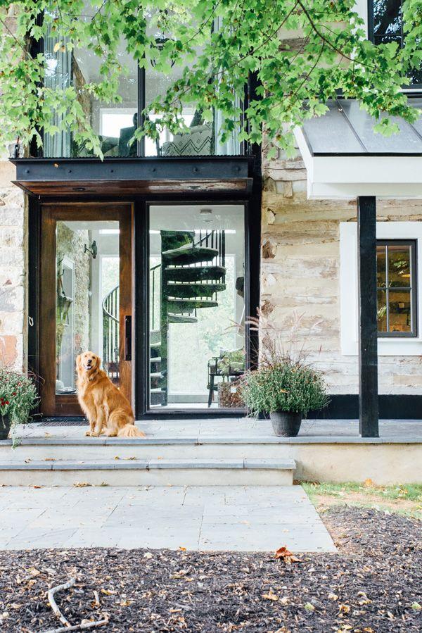 Best 25 industrial front doors ideas on pinterest front - Rustic modern farmhouse exterior ...