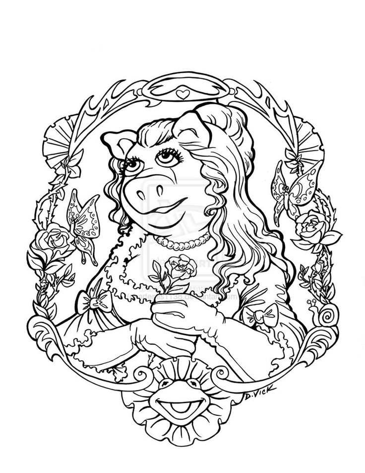 miss piggy coloring pages muppets - photo#23