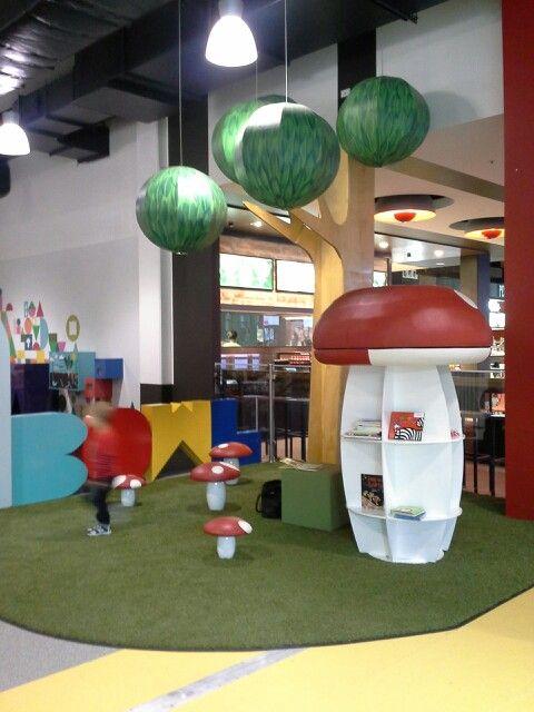 Craigieburn Central indoor playground children's reading area. Amazing!