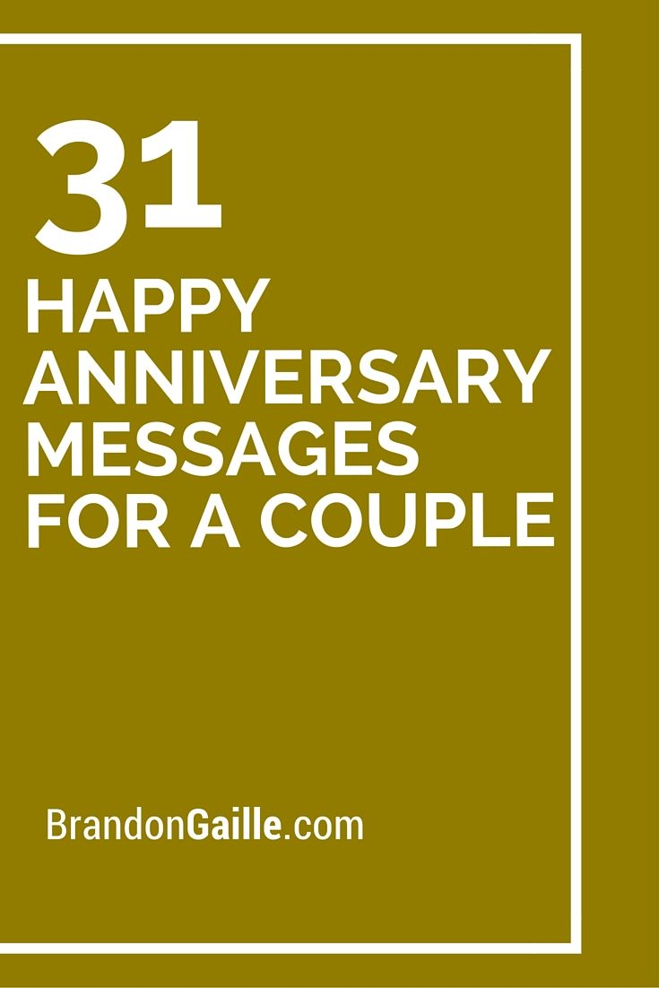 31 Happy Anniversary Messages for a Couple