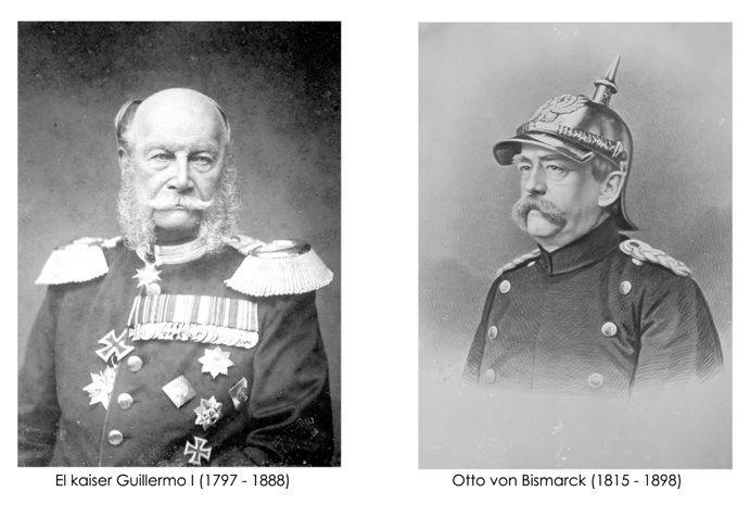 Kaiser Guillermo I y bismark