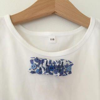 MUJI (無印良品)(ムジルシリョウヒン)のリバティリメイク パフスリーブTシャツ キッズ/ベビーのキッズ服 女の子用(90cm~)(Tシャツ/カットソー)の商品写真
