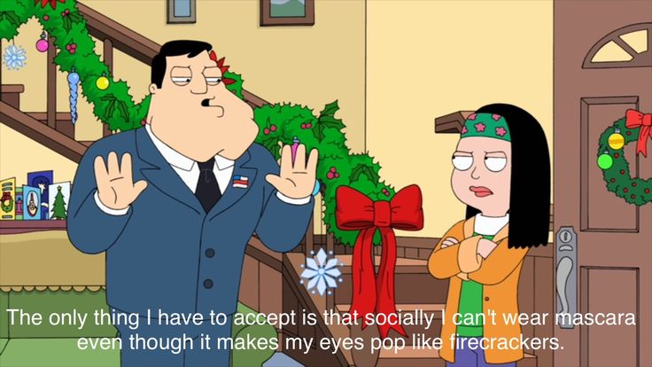 Stan and Hayley Smith on American Dad #Xmas #christmas
