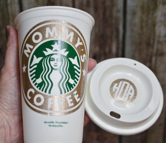 Personalized Starbucks Cup • Glittered Custom Coffee Cup • Travel Mug • Tea Cup (Genuine,  Bonus) [quality coffee gift, holiday gift idea]