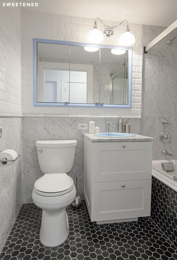 Before After Robyn And Alejandro S Brooklyn Bathroom Renovation Sweetened Stone Tiles