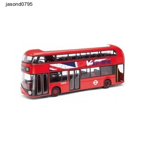 Model Buses Play Corgi Best of British New Routemaster Bus for London Diecast