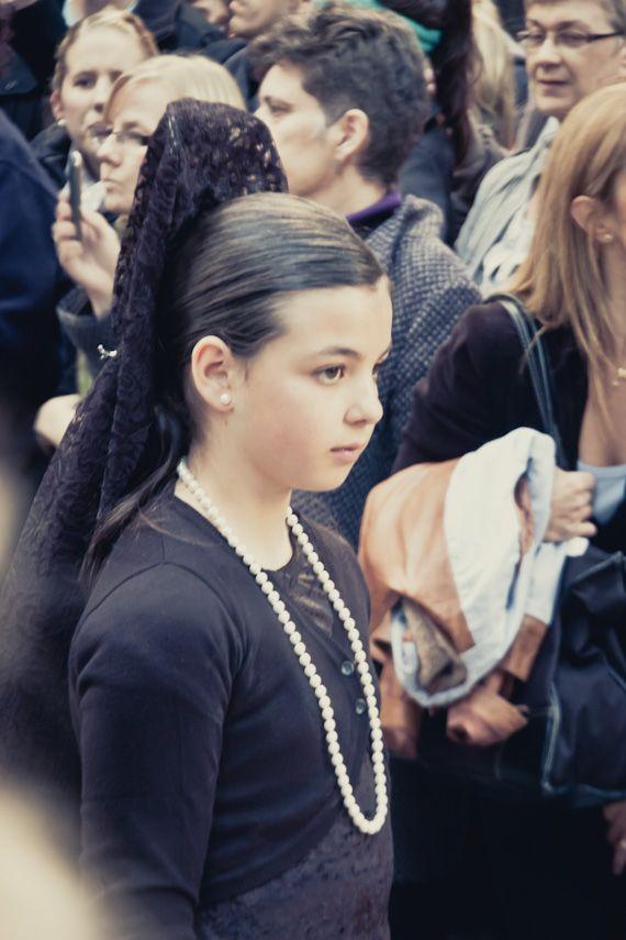 A young Spanish girl, observing Good Friday in Barcelona, Spain | Roman Catholic Traditions | Semana Santa photo essay