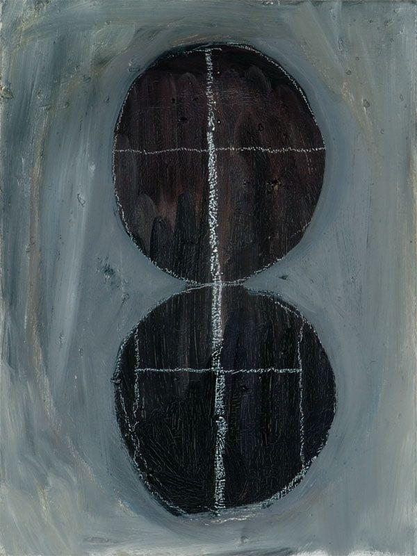 Raphaël Buedts, hout - 2007-2008 - olieverf en krijt op doek - 30 x 40 cm