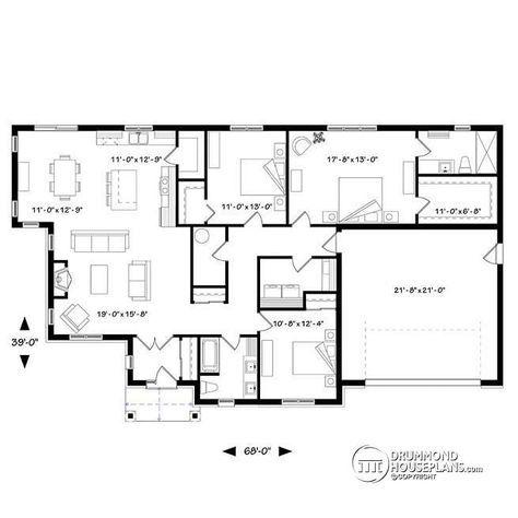 11 best Maison modèle images on Pinterest Future house, House - plan de maison plein pied gratuit