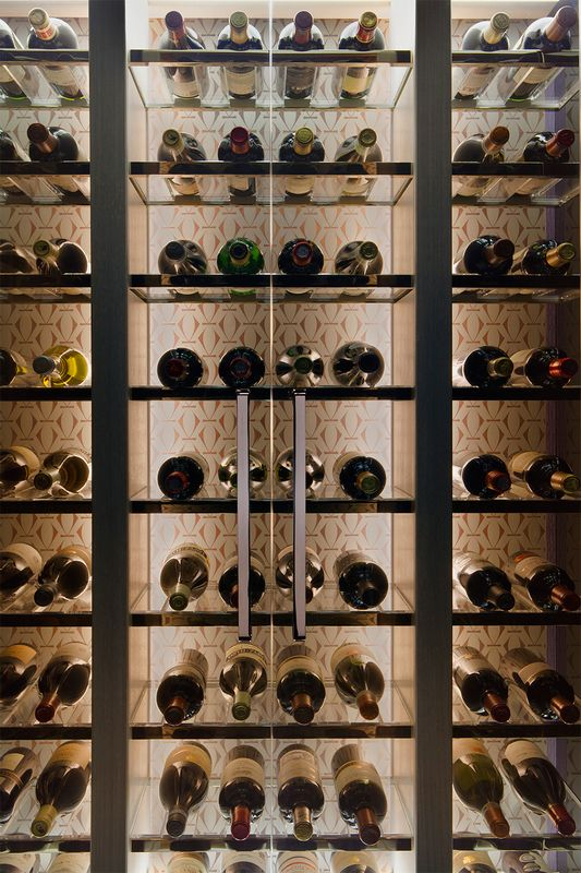 Smallbone of Devizes technical wine wall to display wine upstairs as well as in the cellar.