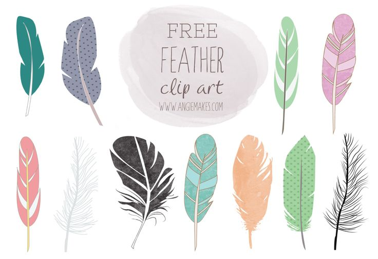 free feather clip art from the beautiful Angie Makes. Other beautiful watercolor and clipart images available at an affordable price in her Creative Market shop: http://creativemarket.com/abaldelomar