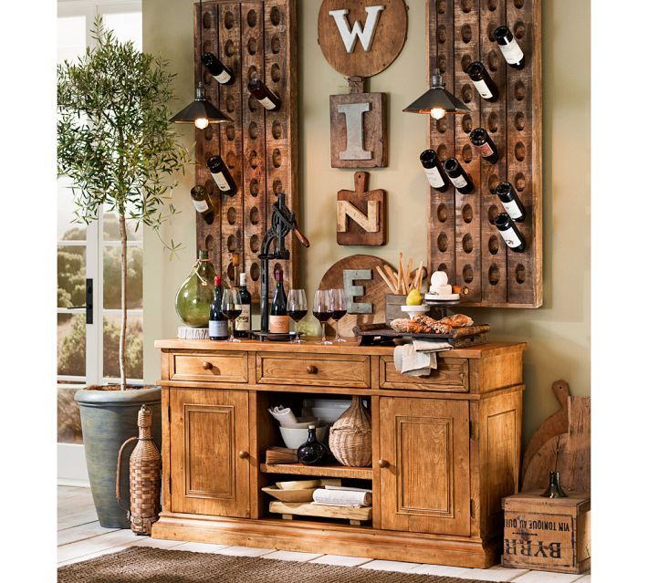 French Wine Bottle Riddling Rack | Pottery Barn
