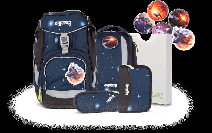 Ergobag Galaxy, Schulranzen, bagpack, recycling PET
