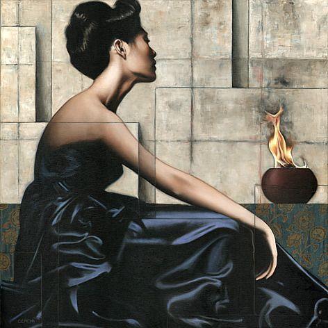 Sergio Cerchi - Vestal - oil on canvas - Galleria scorrevole
