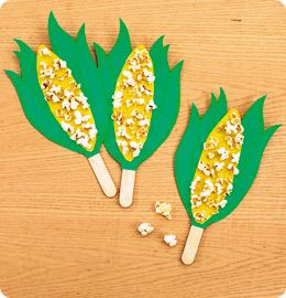 Counting on Corn from Lakeshore Learning: Children practice counting—as they create this cute corn-on-the-cob craft!