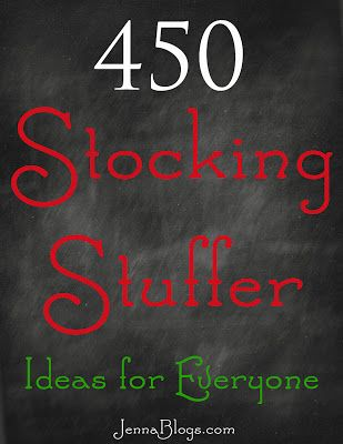 450 Stocking Stuffer Ideas! These are unique ideas for everyone on my list!