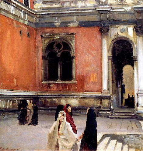 John Singer Sargent, Campo behind the Scuola di San Rocco, Venice, 1882