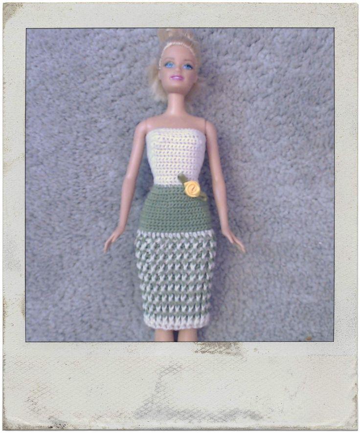 Crochet  - Barbie's Twisted Rib Dress