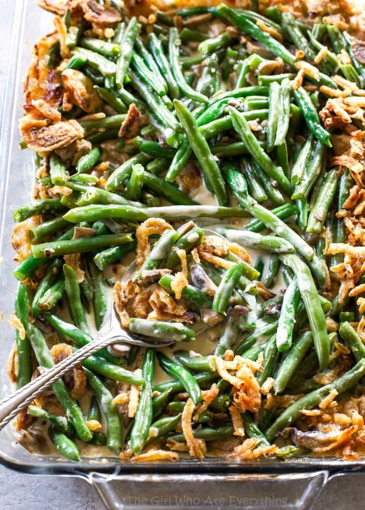 This homemade Green Bean Casserole recipe made without cream of mushroom soup. Easy and delicious side for Thanksgiving or any other holiday. Last year my goal was to make the entire Thanksgiving menu