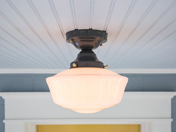 Vintage Rewired Farmhouse Semi Flush Mount Schoolhouse