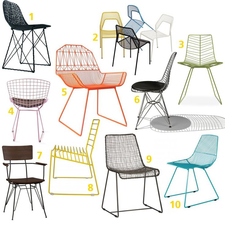 1 Carbon Chair, $987 from Hive 2 Hot Mesh Chair, $119 from Blu Dot 3 Leaf Side Chair, $420 from Hive 4 Harry Wire Chair, $99 from Industry W...