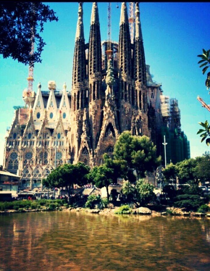 Sagrada Famlia in Barcelona Catalua Cathedral designed