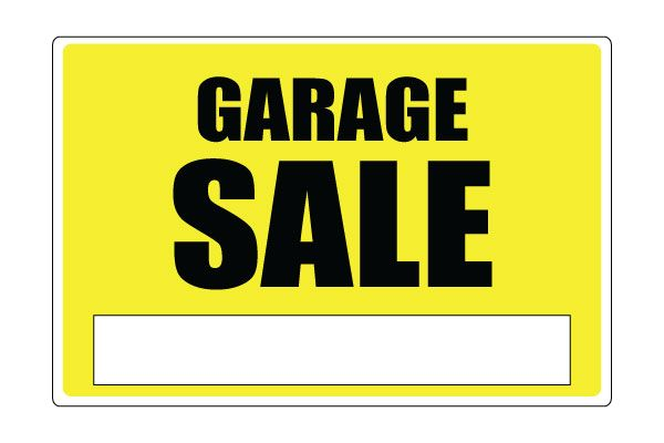 Vibrant image in printable garage sale signs