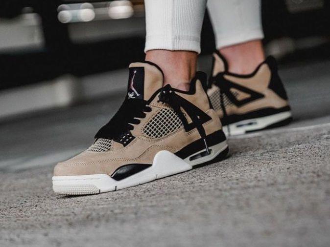 Air Jordan 4 Retro Fossil Mushroom AQ9129-200 | Nike fashion ...