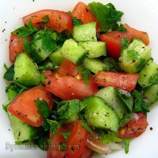 Arabic salad- I LOVE this salad! It's delicious, and light, and refreshing!