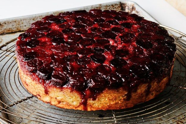 You Only Need 1 Bowl to Make This Cherry Upside-Down Cake | Bon Appetit = try