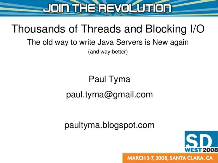 Thousands of Threads and Blocking I/O by George Cao via slideshare